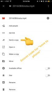 save video from google drive