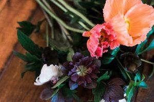 wedding poppy bouquet