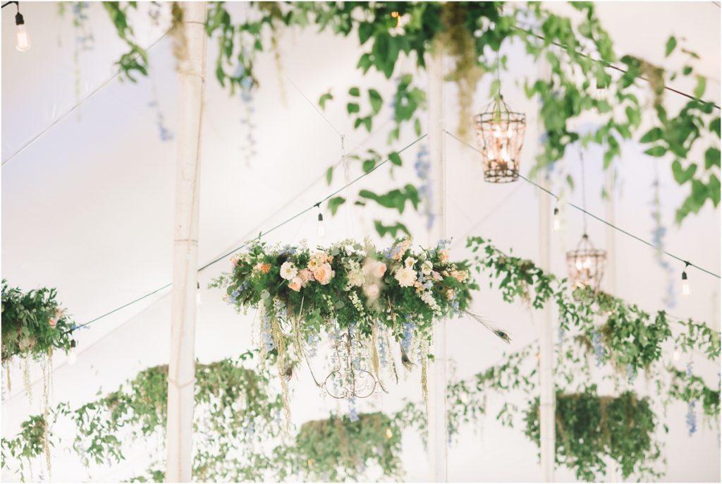 wv wedding video, flower chandelier, wedding florals, md wedding video