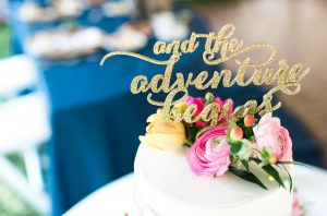 2020 wedding, wedding planning tips, adventure wedding cake