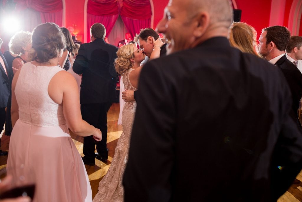 cameo ballroom reception, pink wedding reception