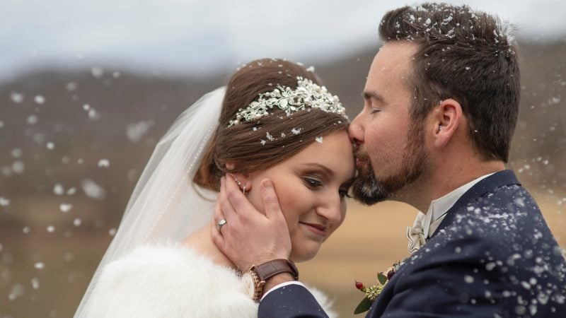 Kaycee + Michael | A Winter Wedding at Stonewall Resort